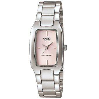 Casio นาฬิกาข้อมือผู้หญิง สายสแตนเลส สีเงิน รุ่น LTP-1165A-4C (Pink/Silver ) / ประกัน CMG