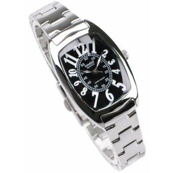 Casio นาฬิกาข้อมือผู้หญิง สายสแตนเลส รุ่น LTP-1208D-1B - Silver/Black รับประกันศูนย์ 1 ปี ของแท้