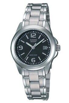 Casio นาฬิกาผู้หญิง สายสแตนเลส รุ่น LTP-1215A-1ADF-Silver