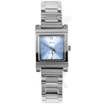 Casio นาฬิกาข้อมือผู้หญิงระบบเข็ม-สีเงิน-น้ำเงิน รุ่น LTP-1237D-2A2DF-silver
