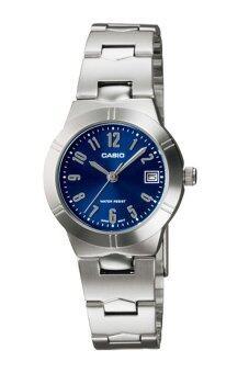 Casio นาฬิกาข้อมือผู้หญิง สีเงิน สายสแตนเลส รุ่น LTP-1241D-2A2DF
