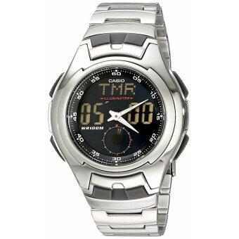 ขาย Casio Men's AQ160WD-1BV Stainless Steel Ana-DigiElectro-Luminescent Sport Watch