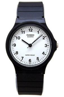 Casio นาฬิกาข้อมือผู้ชาย สีดำ สายเรซิ่น รุ่น MQ-24-7BLDF