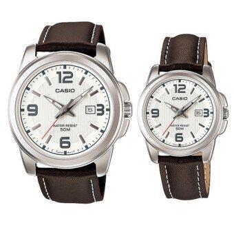 Casio นาฬิกาข้อมือ รุ่น MTP-1314L-7AV + LTP-1314L-7A (Women + Men)