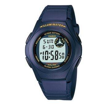 CASIO นาฬิกาข้อมือผู้ชาย สายเรซิน รุ่น F-200W-2A - Blue