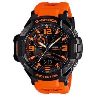 Casio นาฬิกา Rasin Strap GA-1000-4 - Black