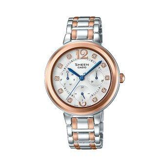 CASIO SHEEN นาฬิกาข้อมือผู้หญิง รุ่น SHE-3048BSG-7AUDR (Pink gold )