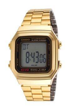 Casio Standard นาฬิกาข้อมือ สายสแตนเลส รุ่น A178WGA-1AVDF - Gold