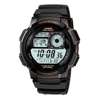 Casio Standard นาฬิกาข้อมือผู้ชาย สายเรซิ่น รุ่น AE-1000W-1AV - Black