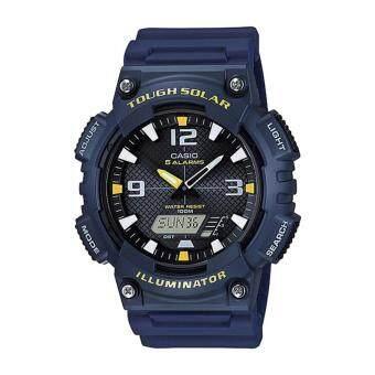 Casio Standard นาฬิกาข้อมือผู้ชาย สายเรซิ่น รุ่น AQ-S810W-2A - สีน้ำเงิน