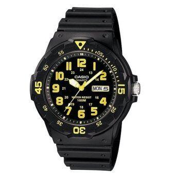 ซื้อ/ขาย Casio Standard นาฬิกาข้อมือ Black/Yellow สายเรซิ่น รุ่น MRW-200H-9BVDF