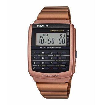 Casio Standard นาฬิกาข้อมือผู้ชาย สีน้ำตาล สายสแตนเลส รุ่น CA-506C-5ADF