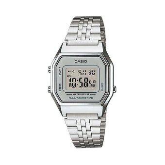 Casio Standard นาฬิกาข้อมือสำหรับผู้หญิง รุ่น LA680WA-7DF (สีเงิน)
