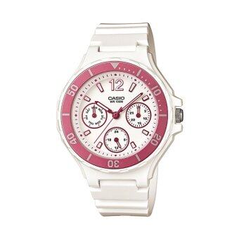 Casio Standard Lady นาฬิกาข้อมือ รุ่น LRW-250H-4AV (White/Pink)