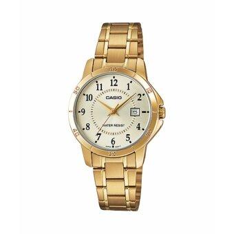 Casio standard Lady นาฬิกาข้อมือผู้หญิง รุ่น LTP-V004G-9BUDF Gold