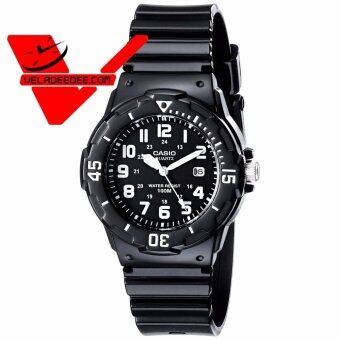 casio Standard นาฬิกาข้อมือสุภาพสตรี สีดำ สายเรซิ่น รุ่น LRW-200H-1BVDF black