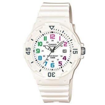 Casio Standard นาฬิกาข้อมือผู้หญิง สีขาว สายเรซิน รุ่นLRW-200H-7BVDF