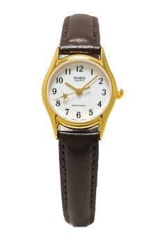 Casio Standard นาฬิกาข้อมือสุภาพสตรี สายหนัง รุ่น LTP-1094Q-7B4RDF - Brown/White