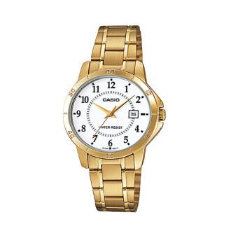 Casio Standard นาฬิกาข้อมือสำหรับผู้หญิง รุ่น LTP-V004G-7BUDF(สีทอง)