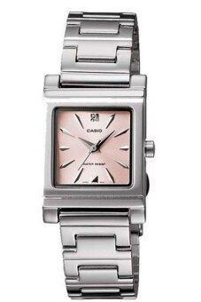 Casio Standard นาฬิกาข้อมือผู้หญิง สายสแตนเลส รุ่น LTP1237D-4 - สีเงิน/ชมพู