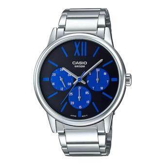 ราคา นาฬิกาข้อมือ Casio Standard men สายแสตนเลส รุ่น MTP-E312D-1B2V