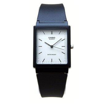 Casio Standard นาฬิกาข้อมือผู้ชาย สีดำ สายเรซิ่น รุ่น MQ-27-7EDF
