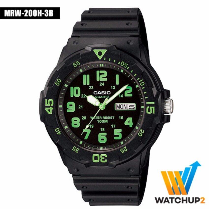 Casio Standard นาฬิกาข้อมือ รุ่น MRW-200H-3 - Black