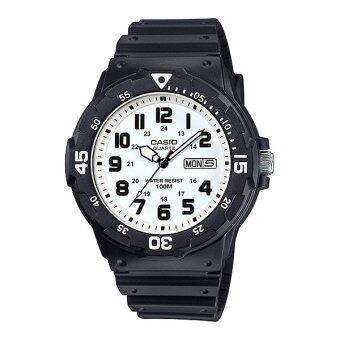 Casio Standard นาฬิกาข้อมือผู้ชาย สายเรซิ่น รุ่น MRW-200H-7BVDF - สีดำ/ขาว