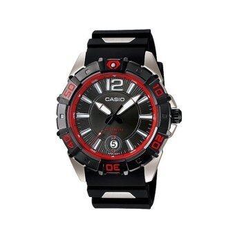 Casio Standard นาฬิกาข้อมือผู้ชาย สีดำ สายเรซิ่น รุ่น MTD-1070-1A2