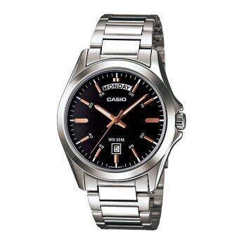 Casio Standard นาฬิกาข้อมือสุภาพบุรุษ สายสแตนเลส รุ่น MTP-1370D-1A2VDF - Silver