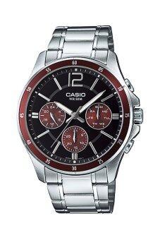 Casio Standard นาฬิกาผู้ชาย สายสเตนเลส รุ่น MTP-1374D-5AV - Brown