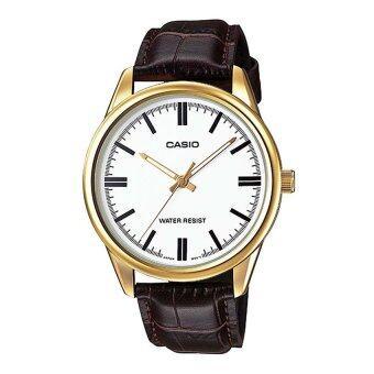 Casio standard นาฬิกาข้อมือ สายหนัง รุ่น MTP-V005GL-7AUDF - Brown