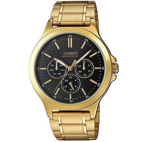 Casio Standard นาฬิกาข้อมือผู้ชาย สีทอง/ดำ สายสแตนเลส รุ่น MTP-V300G-1AUDF พบสินค้าราคาประหยัดทุกวัน
