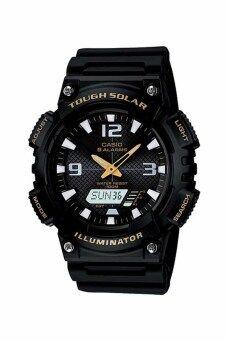 Casio Standard นาฬิกาข้อมือผู้ชาย สายเรซิ่น รุ่น AQ-S810W-1BVDF - สีดำ