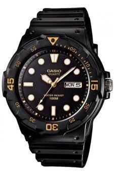 Casio Standard นาฬิกาข้อมือผู้ชาย สายเรซิ่น รุ่น MRW-200H-1EVDF - สีดำ