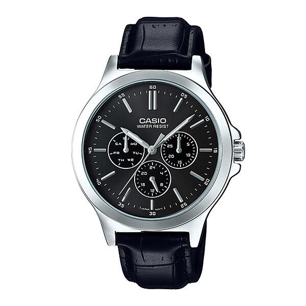 Casio Standard นาฬิกาข้อมือสุภาพบุรุษ รุ่น MTP-V300L-1AUDF - สายหนังสีดำ ไม่ตรงตามสเป็คยินดีคืนเงิน