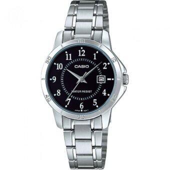 รีวิวพันทิป Casio Standard นาฬิกาข้อมือสุภาพสตรี Silver/Black สายสแตนเลส รุ่น LTP-V004D-1BUDF