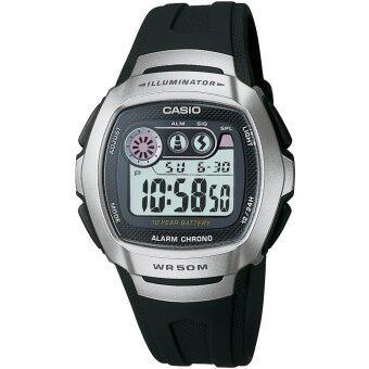 ประเทศไทย Casio Standard นาฬิกาข้อมือ สายเรซิ่น รุ่น W-210-1AVDF - black/silver