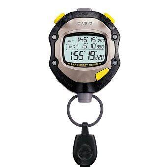 CASIO STOPWATCH SPORTY นาฬิกาจับเวลา สีดำ/สีเทา รุ่น HS-70W
