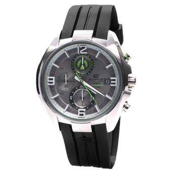 Casio Watch Edifice Chronograph Black Stainless-Steel Case Resin Strap Mens NWT + Warranty EFR-529-7A