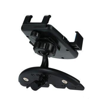 ที่วางโทรศัพท์ในรถ CD-Slot Car Mount มาพร้อมครีบยึดช่องซีดี +หัวจับแบบใหม่ (black) - 5
