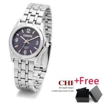 CHENXI Luxury Brand Couple Watch นาฬิกาข้อมือ Women Quartz Watch นาฬิกาข้อมือ es Men Waterproof WristWatch นาฬิกาข้อมือ Ladies Popular Wearing a Clock Round Dial Watch นาฬิกาข้อมือ 028A