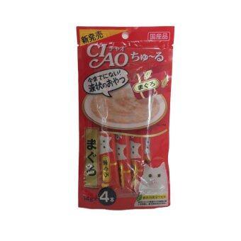 CIAO ขนมแมวเลีย เชาชูหรุ ชนิดซอง รสปลาทูน่ามากุโระ ขนาด 4 x 14g