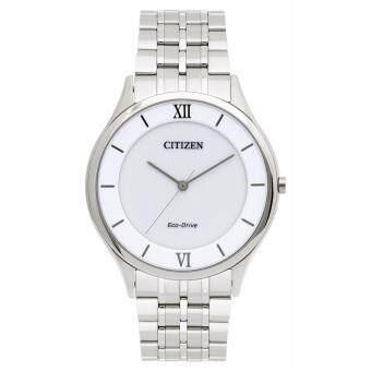 ราคา Citizen นาฬิกาผู้ชาย Eco-Drive AR0071-59A Silver Stainless-Steel Eco-Drive Watch