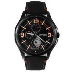 CITIZEN นาฬิกาผู้ชาย Eco-Drive Millitary AP4005-11E black ip