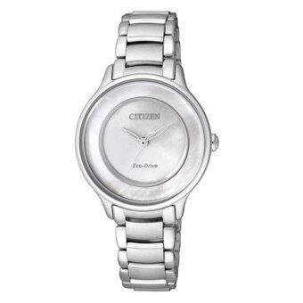 ซื้อ/ขาย CITIZEN Eco-Drive White Pearl Dial Ladies Watch Stainless Strap EM0380-57D - Silver