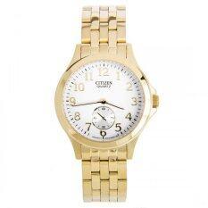 CITIZEN นาฬิกาข้อมือผู้ชาย สายสเตนเลส รุ่น EQ9052-51A - สีทอง