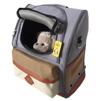 ต้องการขาย กระเป๋าสุนัขและแมว กระเป๋าเป้ ใส่สัตว์เลี้ยง แบบสะพายหลัง รุ่น ClickSpace (สีเทา)
