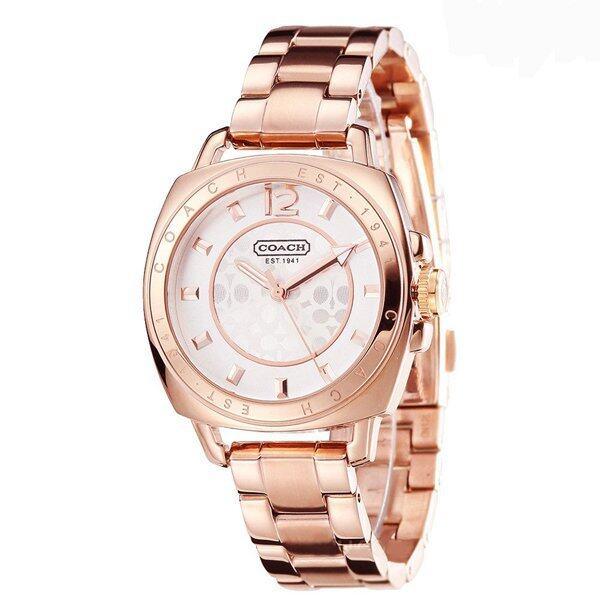 Coach นาฬิกาข้อมือสำหรับผู้หญิง 14501547 สายสแตนเลสสีพิงค์โกล