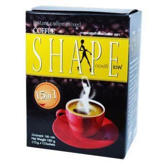 Coffee Shape คอฟฟี่เชฟ กาแฟลดน้ำหนัก สูตรข้าวกล้องงอก เพื่อสุขภาพหุ่นสวย สั่งได้ บรรจุ 12 ซอง (1 กล่อง)